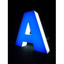 2016 frente popular de LED iluminado canal carta sinais, letras do alfabeto de LED Metal decorativo com faixa de LED à prova d'água