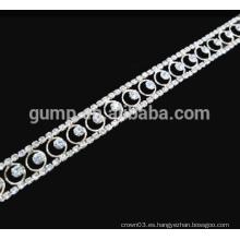 Guarnición cristalina cadena de la copa guarniciones del rhinestone para el accesorio