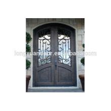 Eisen Haupteingang Türen Design, Schmiedeeisen Doppel-Eingangstüren, Holz Schmiedeeisen Eingangstür