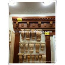 Precio competitivo venta caliente decorativos de madera tallado ménsulas