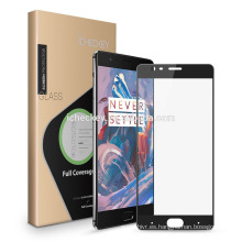 Protector de pantalla de cristal templado 9h con impresión de seda 2.5D para el dispositivo móvil Oneplus 5