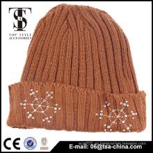 Material de acrílico 100% sombrero divertido de la gorrita tejida de la alta calidad