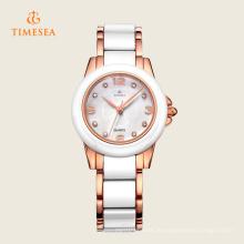 Weiße Keramik Quarz Fashion Armbanduhr 71123