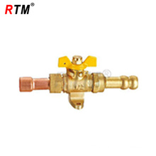 16mm Brass Gas Ball Valve With Red Copper adapter