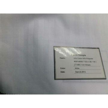 T300 bande blanc poly coton pour l'hôtel et l'hôpital