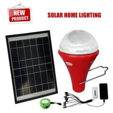 système d'éclairage en gros à la maison solaire, solaire s'allume pour usage intérieur, minis kits lumineux solaires