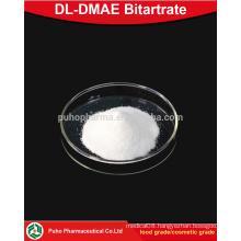 top purity DL-DMAE Bitartrate powder cosmetic grade/food grade
