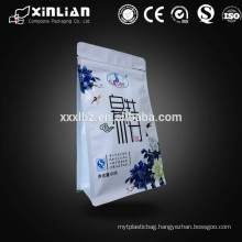 New arrival square bottom tea bag for tea packaging with eight side sealed
