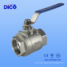 Heavy Type Stainless Steel 2PC Thread Ball Valve with Dico Brand