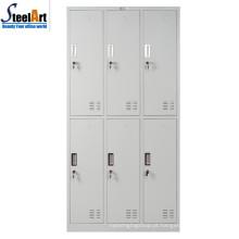 Estudante de mobiliário escolar de design moderno usado 6 guarda-roupa de porta