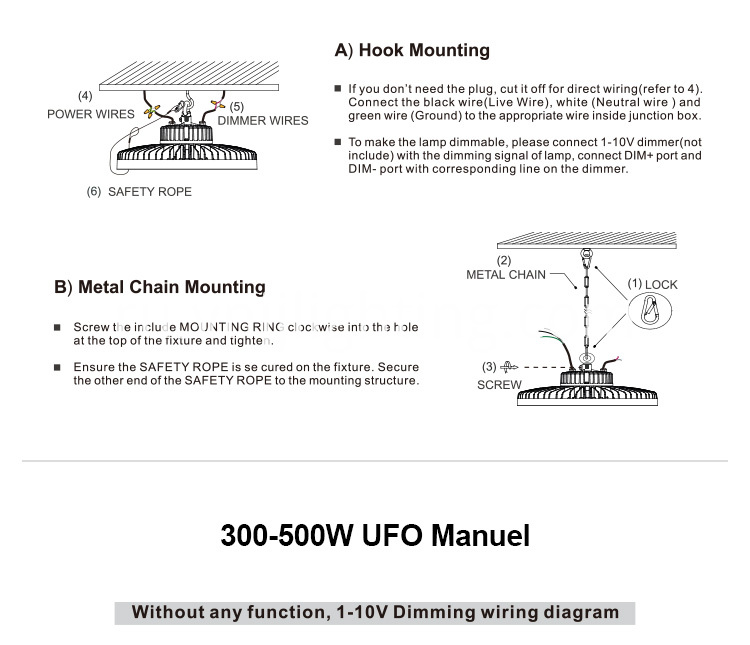 UFO LED High Bay Light Installation _ 13