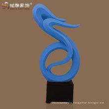 modern design handicraft abstract resin sculpture for entrance hall decoration