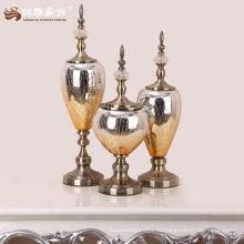 высокое качество домашнего интерьера декоративные стеклянные и металлические материалы ручной работы китайские вазы
