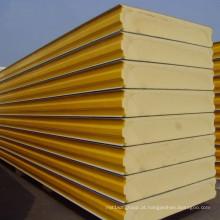 Painel de sanduíche pré-fabricado novo do plutônio para a parede ou o telhado