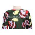 2017 Новая Модель Санта Клаус Напечатано Зеленый Цвет Девушка Износ Партии Западной Платье На Рождество