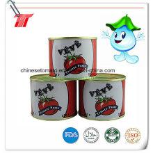 Pasta de tomate enlatada saudável de marca Veve