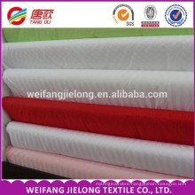 3cm satin stripe 100% cotton fabric for hotel bed cover white poly cotton bedding set with satin stripe fabric