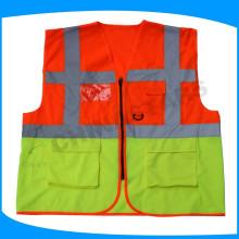 Ropa de trabajo con viseras de alta visibilidad EN20471 con bolsillos multifuncionales