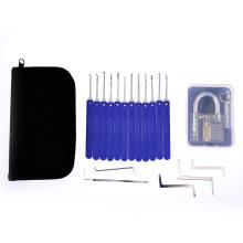 Прозрачный практика замок с голубой ручкой ABS 12шт инструменты Взлом (комбо 7)