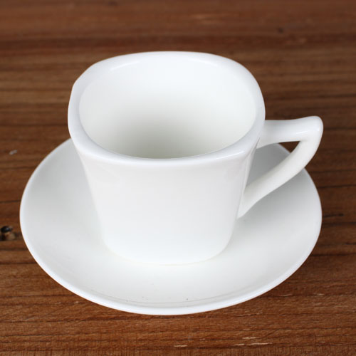 square 3 oz cup and saucer