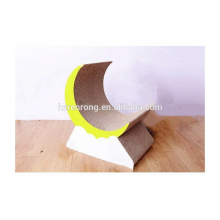 Wholesale Pet Toy Product Corrugated indoor Cat House Cardboard Cat Scratcher with Catnip CT-4049
