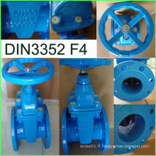 Fourniture d'usine de fonte ductile de la valve 3352 F4 DIN de porte