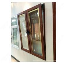 fenêtre à charnière latérale en aluminium moderne avec motifs de gril