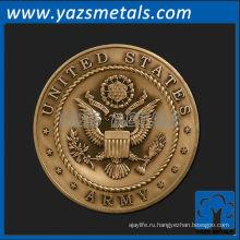 подгоняйте металл медали, изготовленные на заказ высокое качество США армия медальон