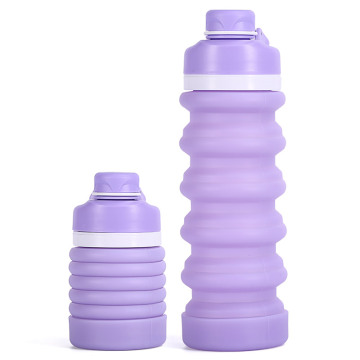 I-Collapsible Water Bottle Silicone Eco Inobungane Ukuhlanza