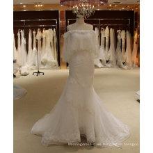 De descuento vestido de novia de seda sirena con chal