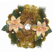 Vente chaude Courbe de Noël artificielle Or de pin