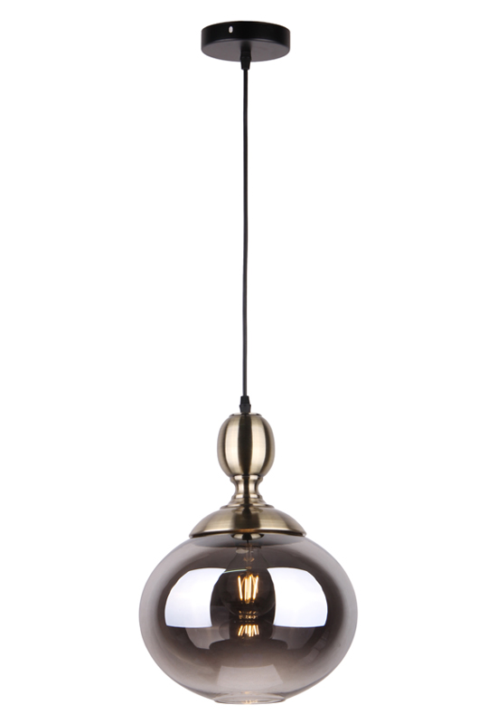 Grey Glass Pendant Lamp