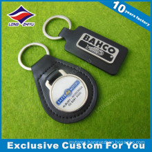 Laser Engrave Logo Stamp Leather Keyring Keychain Promotioinal Gift