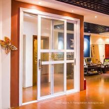 doubles portes extérieures modernes - fenêtres de portes d'upvc dans l'usine de porcelaine