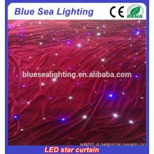 HOT retardante de fogo Velvet LED estrela cortina / levou cortina de parede / levou cortina de teatro