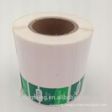 Custom printed packaging peel off plastic stickers label