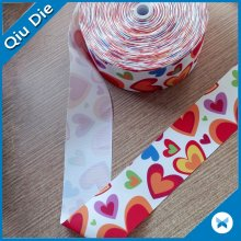 Colorfully Factory Custom Machine Print Silicone Webbing Tape