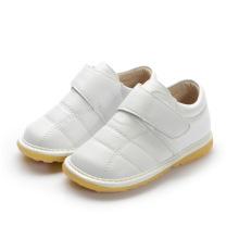 Weißes Baby-echtes Leder Innere Schuhe 1-2-3y
