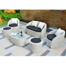 Amazing 6 Pieces Outdoor Wicker Garden Sofa Set