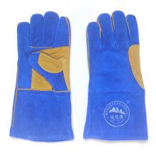 Gants de soudure en cuir travaillant en sécurité de l'industrie de haute qualité
