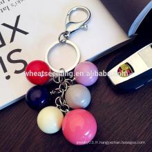 Ballon rond coloré fabricant de mode bon marché porte-clés en acrylique personnalisé
