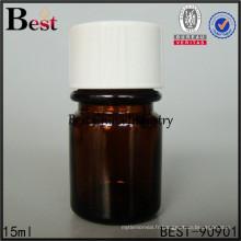 Bouteille de médicament d'ambre de couleur brune pharmaceutique bouteilles 15ml 30ml, service d'impression, 1-2 échantillons gratuits