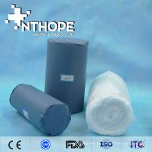 Rollo de algodón 100% blanqueado absorbente blanco médico