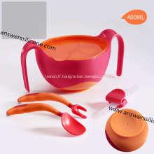 Petit / moyen / grand bol de nourriture pour chien en silicone pliable