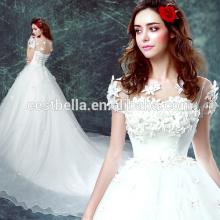 Elegante e barato vestido de noiva feito sob encomenda chinês