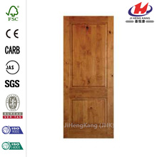 30 in. x 80 in. Rustic Knotty Alder 2-Panel Square Top Solid Wood Stainable Interior Door Slab