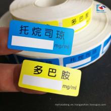 Etiquetas engomadas de la etiqueta de los productos sanitarios de la laminación mate del papel de arte para el sello