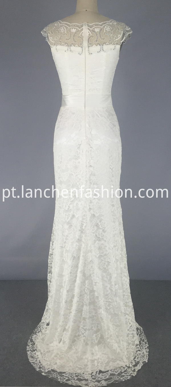 Beading Applique Wedding Dress