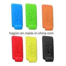 Enchufe de caucho USB colorido no tóxico