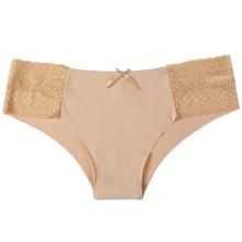 2017 Novo projetado Boyshort Leite Têxtil Lingerie Mulheres maduras Lingerie Sexy para Senhoras Vestido sem costura Panties Underwear